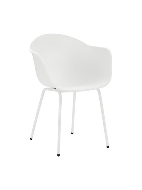 Silla para exterior Claire, Asiento: 65%plástico, 35%plástic, Patas: metal con pintura en polv, Blanco, An 60 x F 54 cm