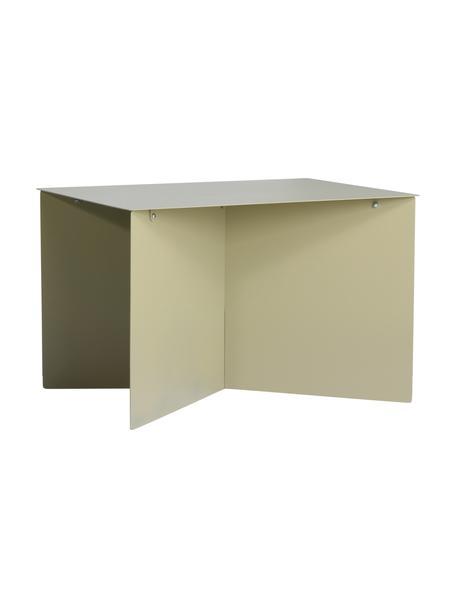 Tavolino da salotto verde oliva Dinga, Metallo verniciato a polvere, Verde oliva, Larg. 60 x Alt. 45 cm