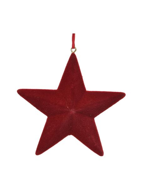 Ciondolo decorativo Reddy 4 pz, Ø 12 cm, Legno, Rosso, Larg. 12 x Alt. 12 cm