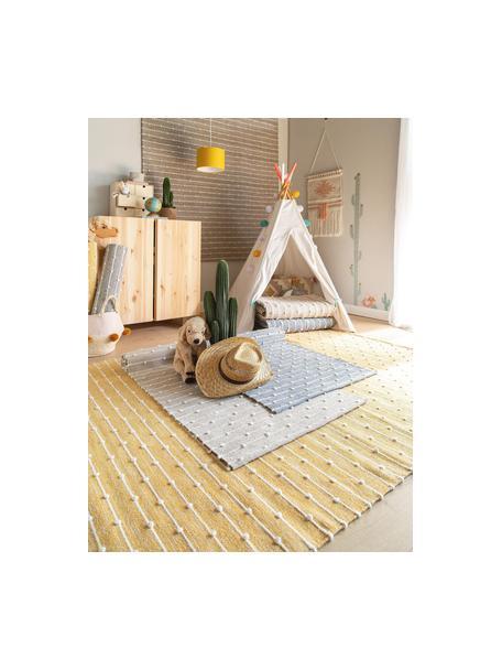 Alfombra artesanal de algodón Lupo, 80%algodón, 20%lana, Gris, An 80 x L 120 cm (Tamaño XS)