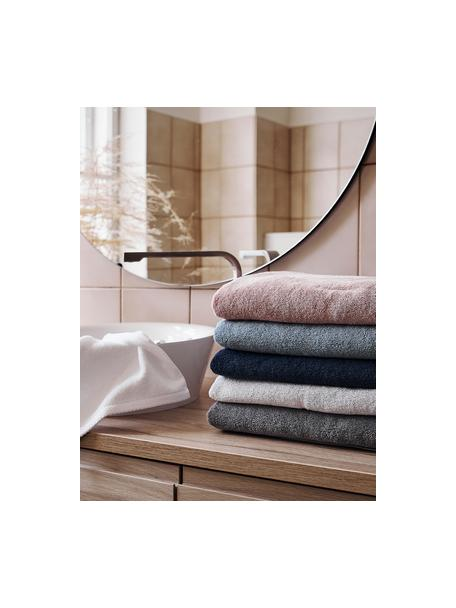 Eenkleurige handdoekenset Comfort, 3-delig, Donkerblauw, Set met verschillende formaten