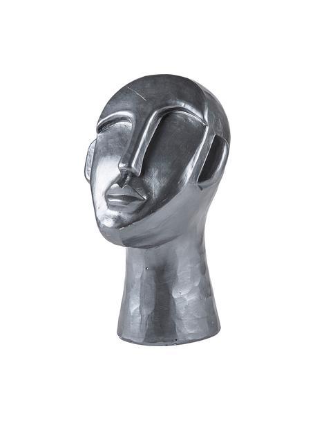 Oggetto decorativo Head, Cemento, Argentato, Larg. 18 x Prof. 17 cm