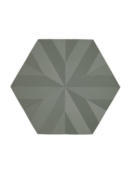Topfuntersetzer Ori, 2 Stück, Silikon, Olivgrün, 14 x 16 cm