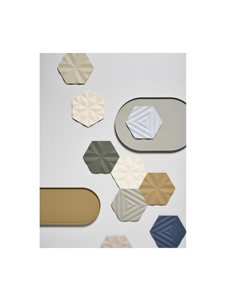 Panonderzetter Ori, 2 stuks, Siliconen, Olijfgroen, 14 x 16 cm