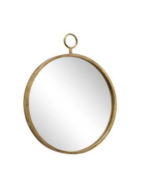 Specchio da parete rotondo con cornice in metallo Prado, Cornice: metallo rivestito, Superficie dello specchio: lastra di vetro, Ottonato, Larg. 55 x Alt. 66 cm