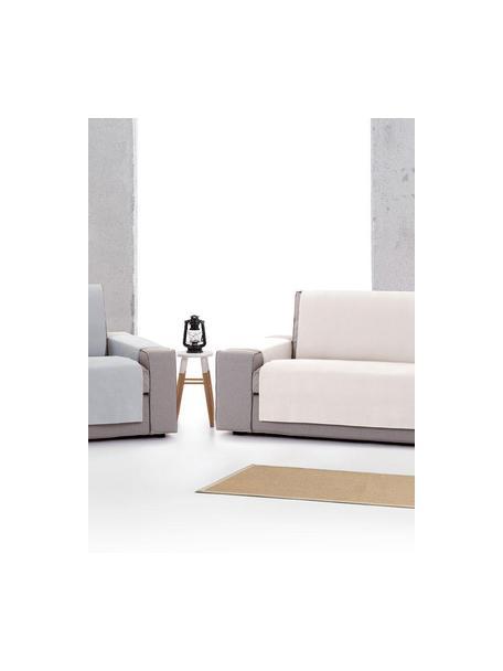 Funda de sofá Levante, 65%algodón, 35%poliéster, Crema, 2 plazas (110 x 220cm)