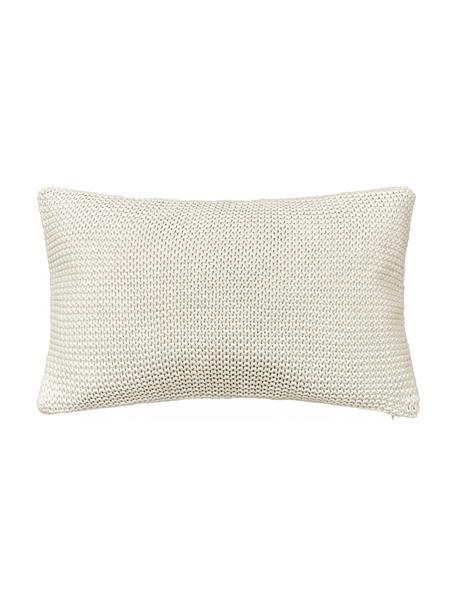 Poszewka na poduszkę z dzianiny Adalyn, 100% bawełna, Naturalny biały, S 30 x D 50 cm