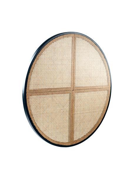 Cabecero de ratán Stockholm, Madera, ratán, Negro, beige, Ø 135 cm