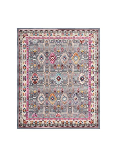 Teppich Vintage Kashan mit buntem Vintagemuster, Flor: 100% Polypropylen, Grau, Mehrfarbig, B 120 x L 180 cm (Grösse S)