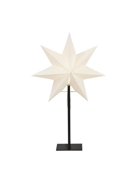 Oggetto luminoso con spina Frozen, Paralume: carta, Base della lampada: metallo rivestito, Bianco, nero, Larg. 34 x Alt. 55 cm