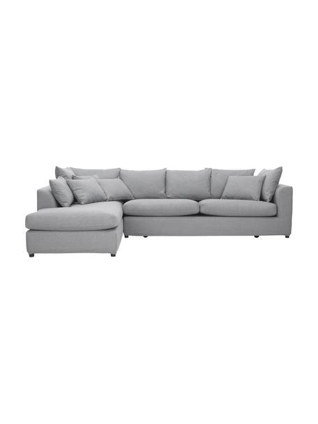 Duża sofa narożna Zach, Tapicerka: polipropylen Dzięki tkani, Nogi: tworzywo sztuczne, Szary, S 300 x G 213 cm