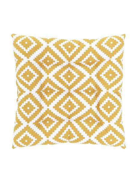 Cojín de asiento Miami, Funda: 100%algodón, Amarillo, An 40 x L 40 cm
