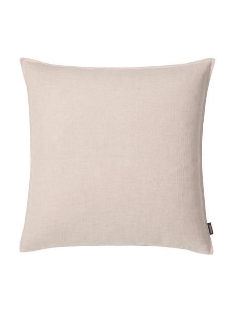 Poszewka na poduszkę z lnu z efektem sprania Sven, 100% len, Beżowy, S 40 x D 40 cm
