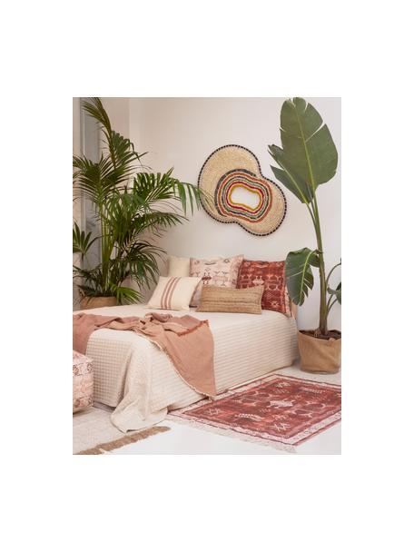 Funda de cojín Tanger, estilo étnico, 100%algodón, Rojo, beige, An 45 x L 45 cm