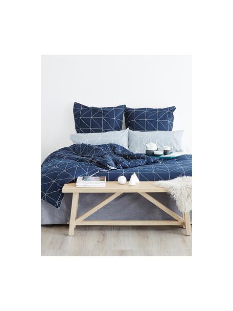 Dwustronna poszewka na poduszkę z bawełny Marla, 2 szt., Szary, biały, S 40 x D 80 cm