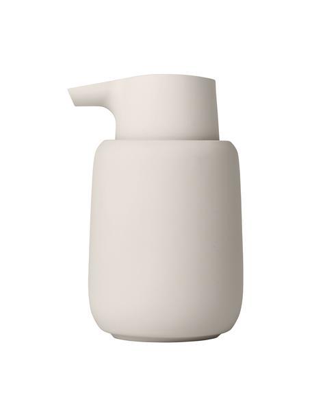 Dosificador de jabón de cerámica Sono, Cerámica, Beige, Ø 9 x Al 14 cm