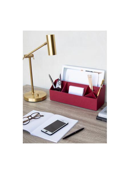 Organizer biurowy Elisa, Tektura laminowana, Ciemnoczerwony, S 33 x W 13 cm