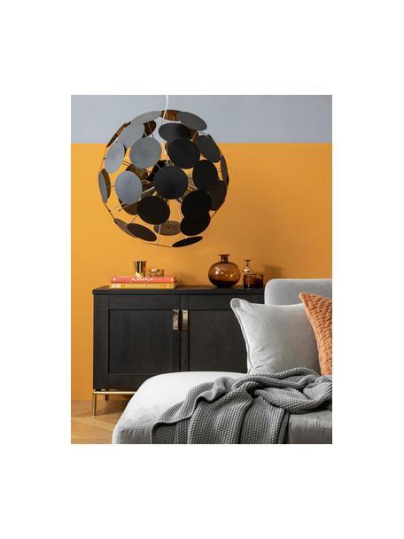 Lampada a sospensione nera/dorata Planet, Baldacchino: metallo verniciato a polv, Decorazione: metallo, Nero, rame, Ø 66