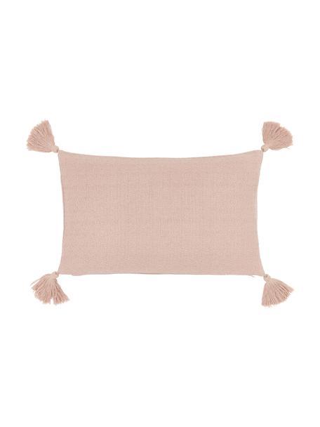 Poszewka na poduszkę z chwostami Lori, 100% bawełna, Blady różowy, S 30 x D 50 cm