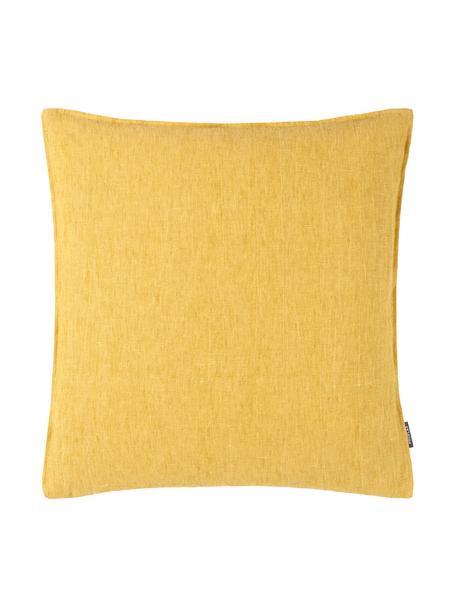 Poszewka na poduszkę z lnu Sven, 100% len, Brunatnożółty, S 60 x D 60 cm