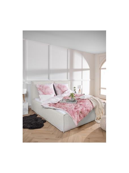 Cama tapizada Dream, Estructura: madera de pino maciza y p, Tapizado: poliéster (texturizado) , Tejido beige, 140 x 200 cm