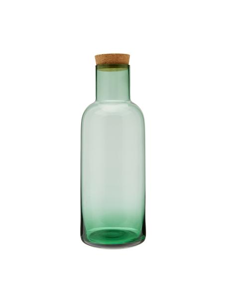 Karaf Clearance met kruk, 1 L, Deksel: kurk, Groen, transparant, H 25 cm