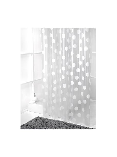 Tenda da doccia a pois Golf, Bianco, grigio, Larg. 180 x Lung. 180 cm