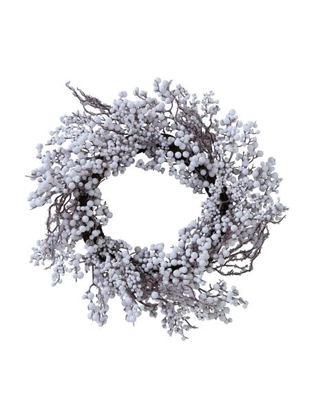 Ghirlanda di Natale Biala, Ø50 cm, Legno di betulla, Bianco, marrone, Ø 50 x Alt. 10 cm