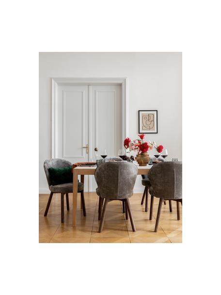 Polsterstuhl Serena in Grau, Bezug: Chenille (92% Polyester, , Beine: Massives Eschenholz, lack, Grau, B 56 x T 64 cm