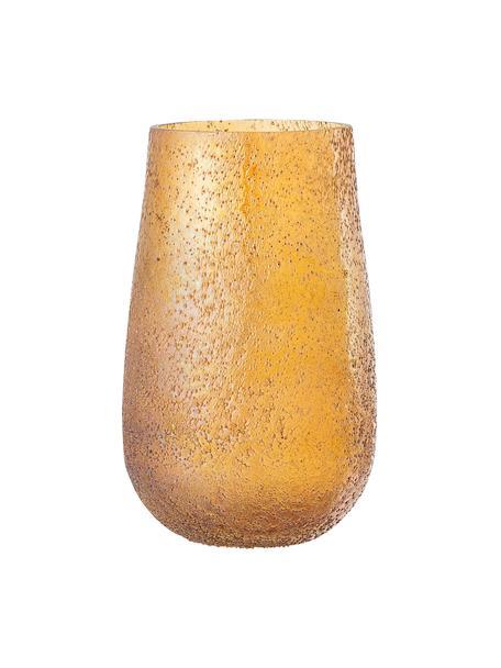 Jarrón pequeño de vidrio Rink, Vidrio, Naranja, Ø 10 x Al 16 cm