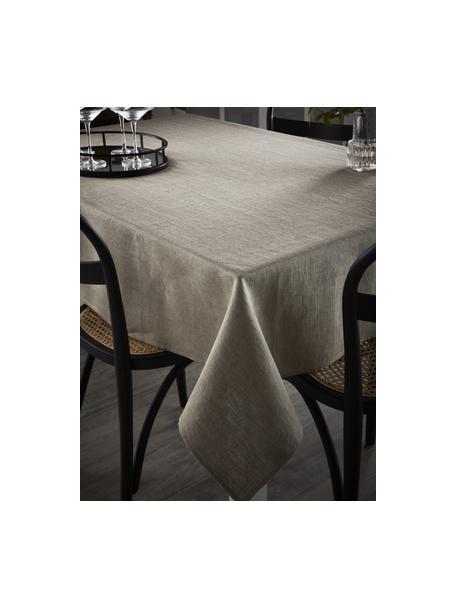 Linnen tafelkleed Heddie in beige, 100% linnen, Beige, Voor 4 - 6 personen (B 145 x L 200 cm)