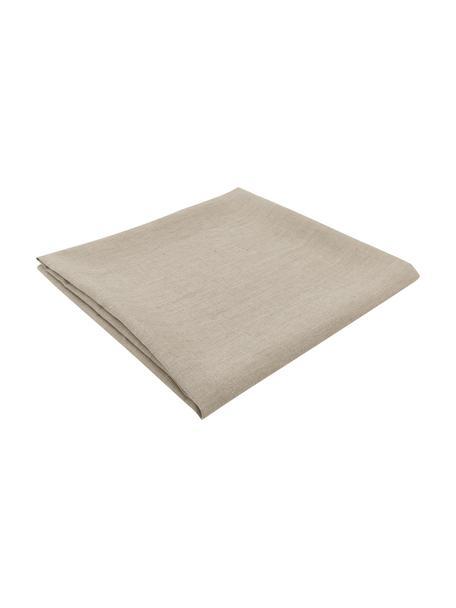 Tovaglia in lino beige Heddie, 100% lino, Beige, Per 4-6 persone (Larg.145 x Lung. 200 cm)