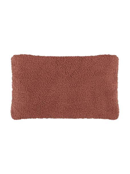 Flauschige Teddy-Kissenhülle Mille, Vorderseite: 100% Polyester (Teddyfell, Rückseite: 100% Polyester (Teddyfell, Terrakotta, 30 x 50 cm