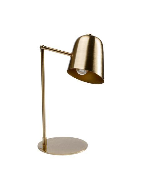 Lampada da scrivania retrò Clive, Paralume: acciaio ottonato, Base della lampada: acciaio ottonato, Ottonato, Larg. 27 x Alt. 56 cm