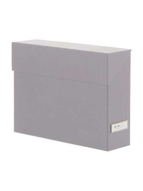 Archivador Lovisa, 13pzas., Organizador: cartón laminado, Tejido gris, An 33x Al 24 cm