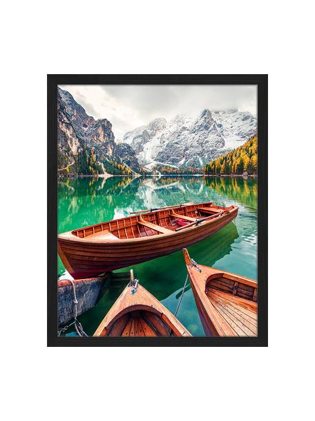 Ingelijste digitale print Pleasure Boats, Afbeelding: digitale print op papier,, Lijst: gelakt hout, Multicolour, 43 x 53 cm