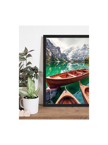 Gerahmter Digitaldruck Pleasure Boats, Bild: Digitaldruck auf Papier, , Rahmen: Holz, lackiert, Front: Plexiglas, Mehrfarbig, 43 x 53 cm