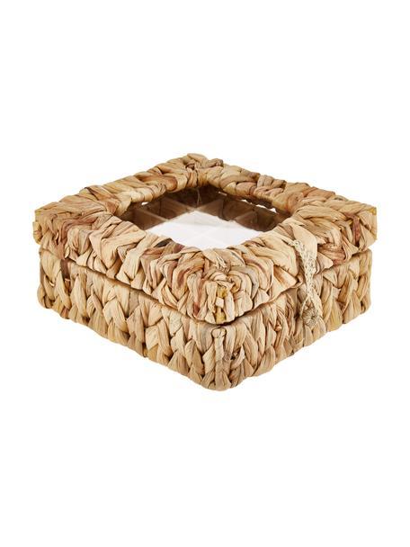 Pudełko na herbatę z liści hiacyntu wodnego Iden, Brązowy, S 23 x W 10 cm