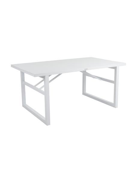 Mesa de exterior Vevi, Aluminio con pintura en polvo, Blanco, An 160 x F 90 cm