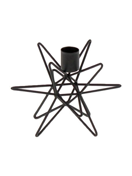 Portacandela nero moderno Cosma, Metallo verniciato, Nero, Ø 15 x Alt. 11 cm