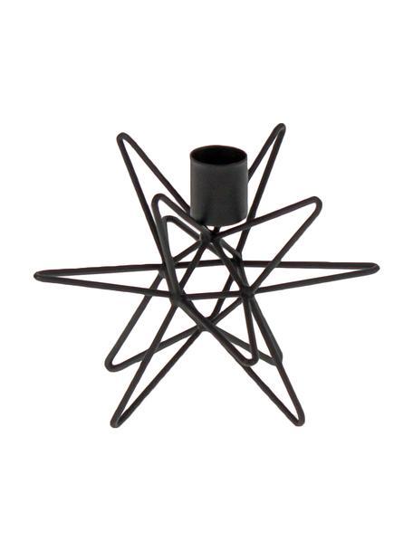 Świecznik Cosma, Metal lakierowany, Czarny, Ø 15 x W 11 cm