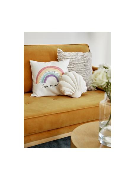 Funda de cojín de diseño Kera Till Rainbow, Algodón, Blanco, multicolor, Cama 180/200 cm (270 x 280 cm)