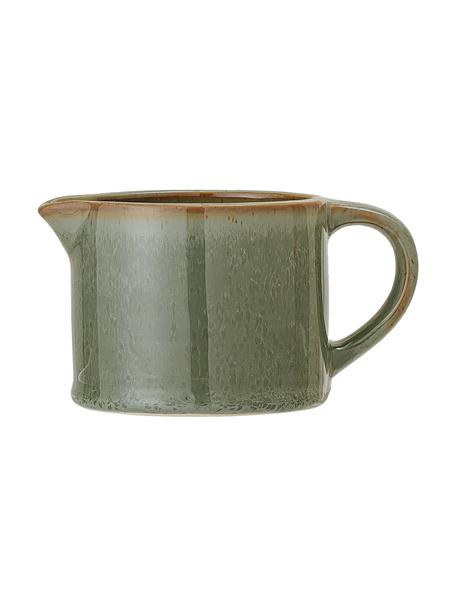 Keramische melkkan Pixie, 275 ml, Keramiek, Groen, bruintinten, Ø 9 x H 7 cm