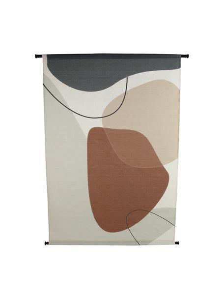 Wandobject Abby, Canvas, kunststof, Wit, bruin, beige, zwart, 105 x 136 cm