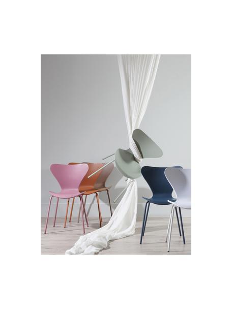 Kunststoffen stoelen Pippi, 2 stuks, Polypropyleen, metaal, Blauw, B 47 x D 50 cm