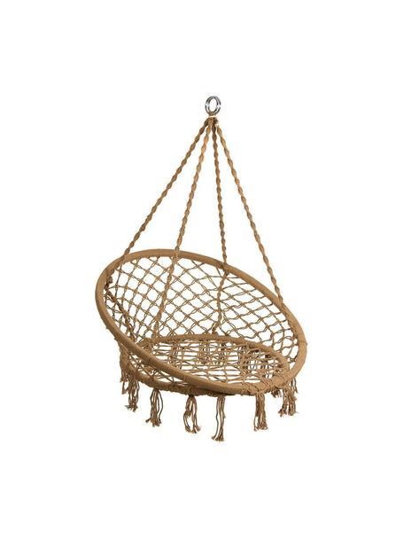 Silla colgante Dalila, Estructura: acero, Marrón, Ø 82 x Al 111 cm