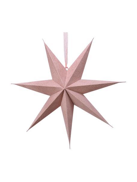 Gwiazda świetlna LED z wtyczką Amelia, 2 szt., Papier, Blady różowy, S 60 x W 60 cm