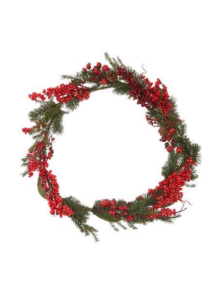 Ghirlanda natalizia Marien, lung. 176, Materiale sintetico, Rosso, verde, Ø 15 x Lung. 176 cm