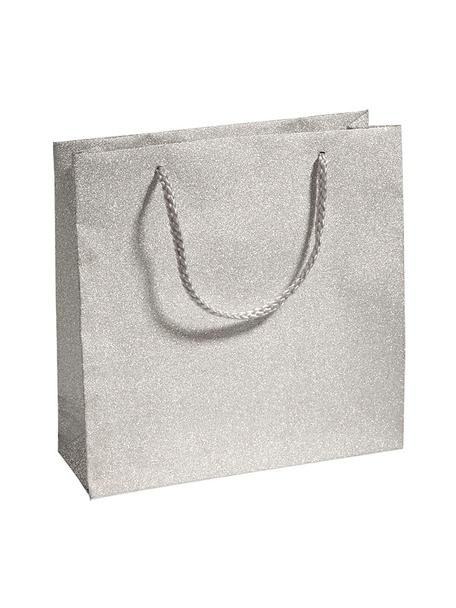 Sacchetti regalo Sublime, 3 pz., Polipropilene, Argentato, Larg. 20 x Alt. 20 cm