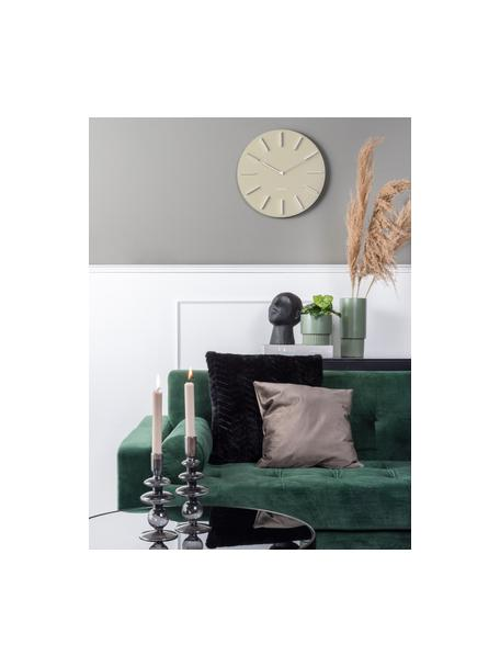 Reloj de pared Charm, Metal recubierto, Beige, Ø 45 cm